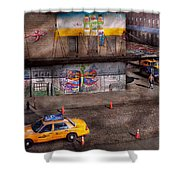 City - New York - Greenwich Village - Life's Color Shower Curtain