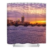 City Nights Shower Curtain by Joann Vitali