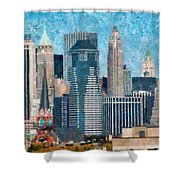 City - Ny - A Touch Of The City Shower Curtain