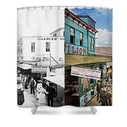 City - Ny - The Bowery 1900 - Side By Side Shower Curtain