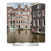 City Of Amsterdam Canal Houses Shower Curtain