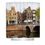 City Of Amsterdam In Holland Shower Curtain