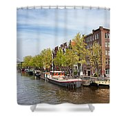 City Of Amsterdam In The Netherlands Shower Curtain