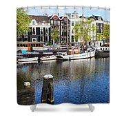 City Of Amsterdam River View Shower Curtain