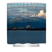 City Of Anchorage  Shower Curtain