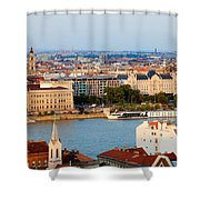City Of Budapest Cityscape Shower Curtain