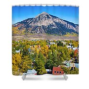 City Of Crested Butte Colorado Panorama   Shower Curtain