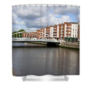 City Of Dublin In Ireland Shower Curtain