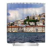 City Of Istanbul Cityscape Shower Curtain by Artur Bogacki