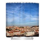 City Of Lisbon At Sunset Shower Curtain