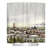 City Of Reykjavik  Shower Curtain