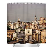 City Of Rome At Dusk Shower Curtain