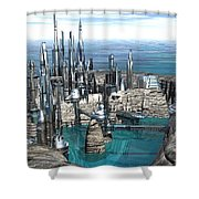 City Of The Future Shower Curtain