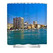 City Of Zadar Waterfront And Harbor Shower Curtain
