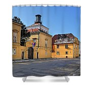 City Of Zagreb Historic Upper Town Shower Curtain