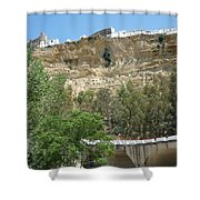 City On A Cliff Shower Curtain