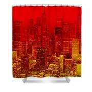 City On Fire Shower Curtain