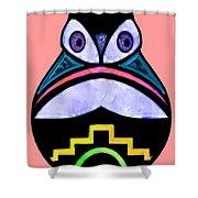 City Owl Shower Curtain