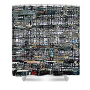 City Park City Art Shower Curtain