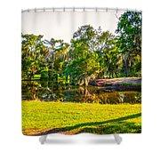 City Park New Orleans Shower Curtain