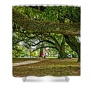 City Park Stroll 2 Shower Curtain
