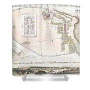 City Plan Or Map Of Pompeii Shower Curtain