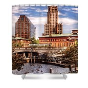 City - Providence Ri - The Skyline Shower Curtain by Mike Savad