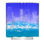 City Rain Shower Curtain
