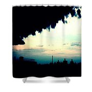 City Silhouette  Shower Curtain