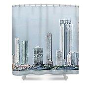 City Skyline, Bocagrande, Cartagena Shower Curtain