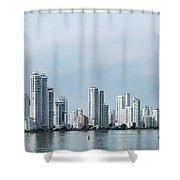 City Skyline, Castillogrande Shower Curtain
