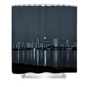 City Skyline Monochrome Shower Curtain