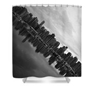 City Slope  Shower Curtain