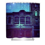 City Street At Night Shower Curtain