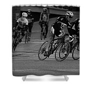City Street Cycling Shower Curtain