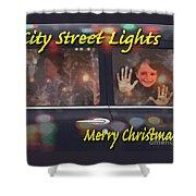 City Street Lights Shower Curtain