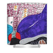City Curb Street Parking Shower Curtain