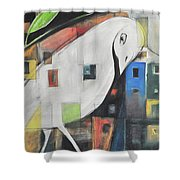 City Strut Shower Curtain