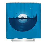 City Tunes Shower Curtain