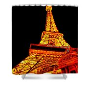 City - Vegas - Paris - Eiffel Tower Restaurant Shower Curtain