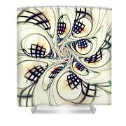 City Vortex Shower Curtain by Anastasiya Malakhova