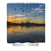 City Wakes Shower Curtain