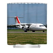 Cityjet British Aerospace Avro Rj85 Shower Curtain