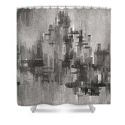 Cityscape 3 Shower Curtain