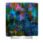 Cityscape 5 Shower Curtain by Jack Zulli