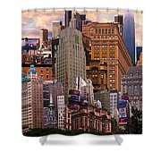 Cityscape Dream Shower Curtain
