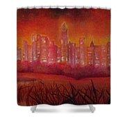 Cityscape Gold Coast Shower Curtain