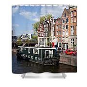 Cityscape Of Amsterdam Shower Curtain