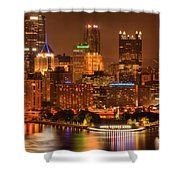 Cityscape Of Color Shower Curtain