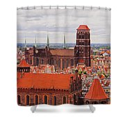 Cityscape Of Gdansk Shower Curtain